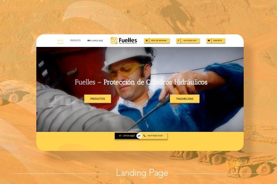 Diseño Web landing page Fuelles